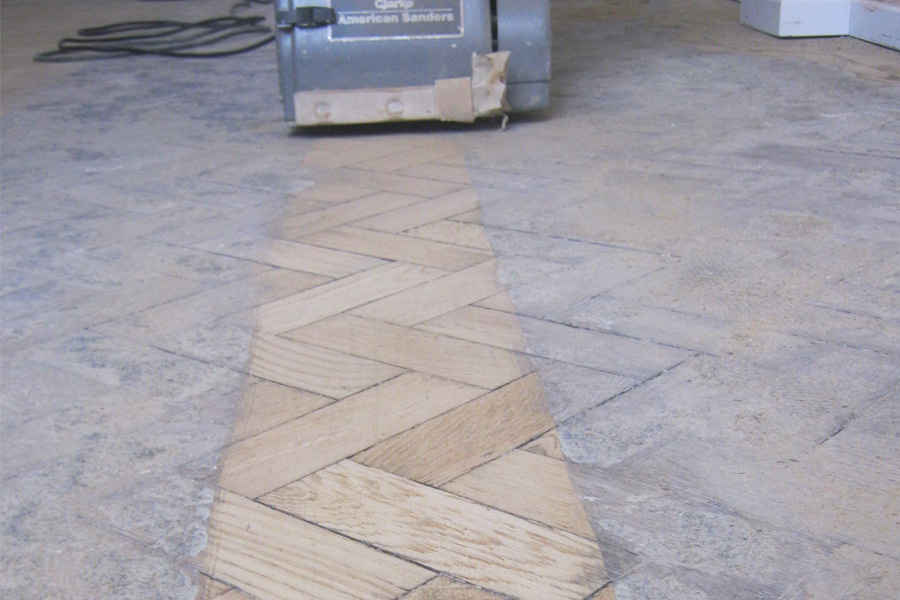 Wood floor stripping