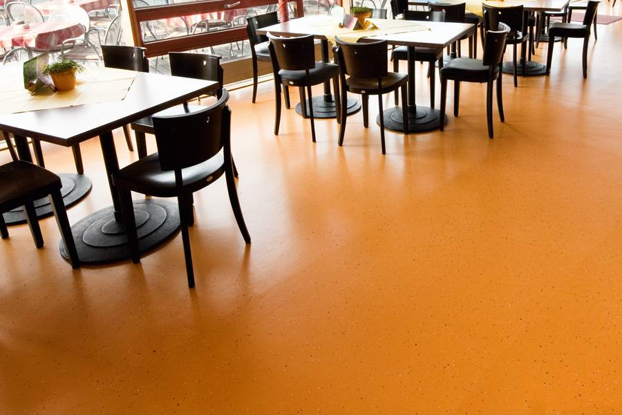Orange Recolour Floor Coating