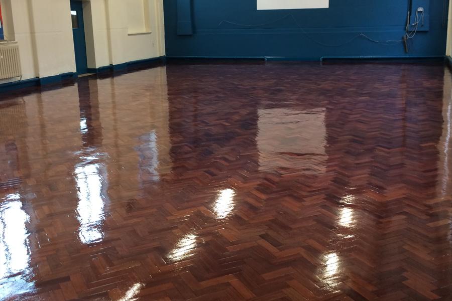 School Hall Floor Sanding