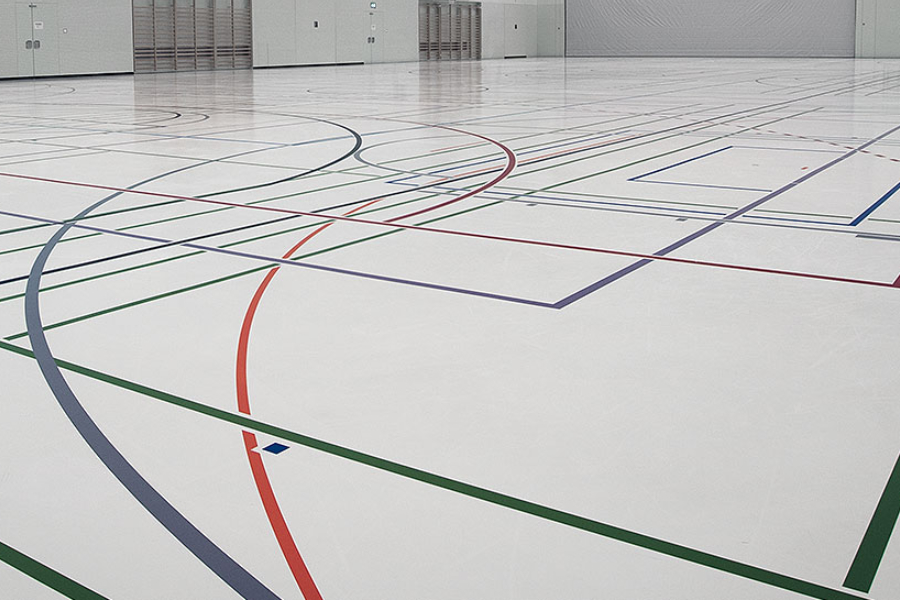 Sports Floor Colouring