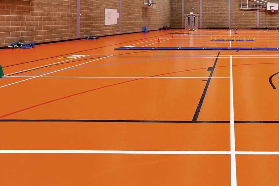 Orange Sports Floor