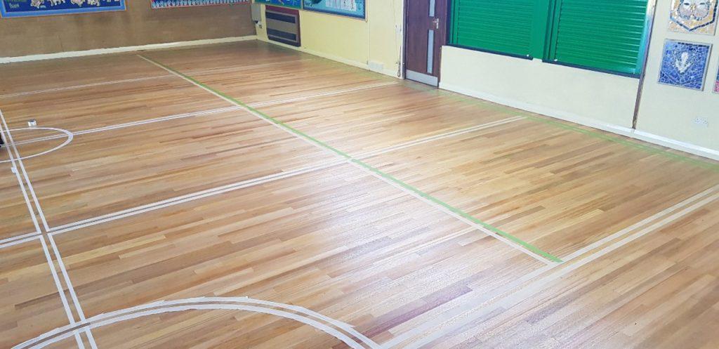 School hall restoration - beaver floorcare